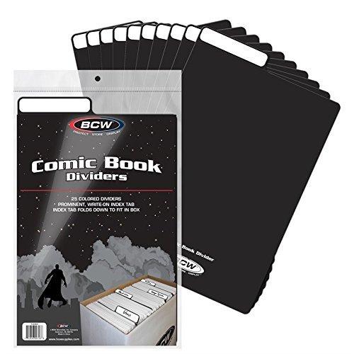 - BCW 1-CD-BLK Comic Book Dividers-Black