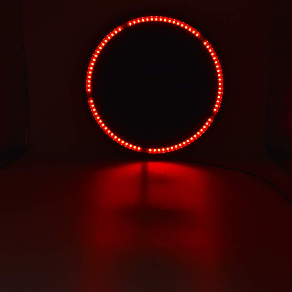 Safego Troisi/ème Feu Stop LED Lampe de Pneu de Secours Rouge pour 1986-2016 J-eep Wrangler JK TJ