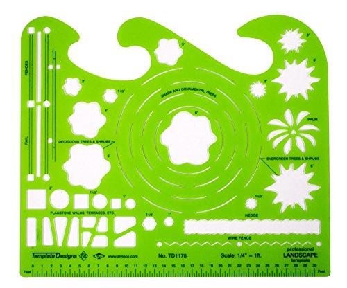 alvin professional landscape design template td1178. Black Bedroom Furniture Sets. Home Design Ideas