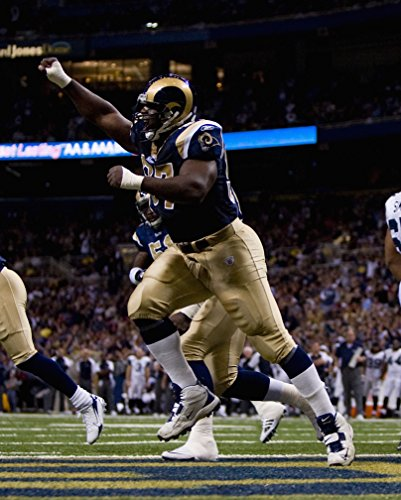 - La'Roi Glover, St Louis Rams, Signed, Autographed, 8X10 Photo, a Coa Will Be Included