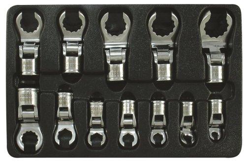 "UPC 745227011490, Astro Pneumatic 7123 3/8"" Drive Offset Flexible Crowfoot Wrench Set - 12 Piece"