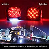 12V Trailer Light Kit DOT Certified Utility Trailer Lights for Boat RV Car Easy Assembly with Wire Harness Wafer LED 50,000H Lifespan Waterproof Durable All-in-one Tail Light Kit for Under 80 Inch