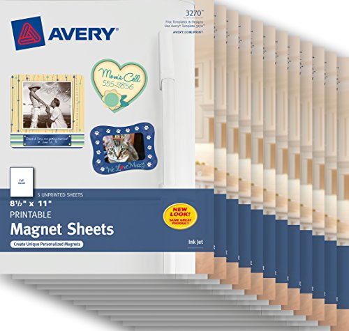 Avery Magnet Sheets , 8-1/2'' x 11'', White, Case Pack of 12 (3270) by Avery