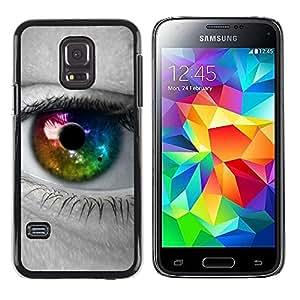 Be Good Phone Accessory // Dura Cáscara cubierta Protectora Caso Carcasa Funda de Protección para Samsung Galaxy S5 Mini, SM-G800, NOT S5 REGULAR! // Colorful Eye Iris