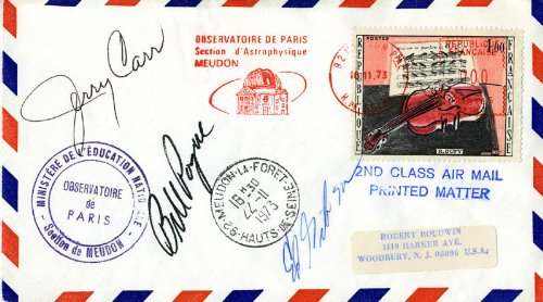 Skylab Mission-3 Crew - Special Cover Signed 11/16/1973 with -