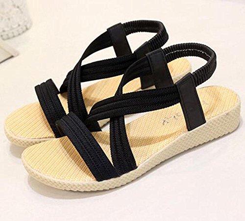 KUKI cabeza s de romanos La zapatos plana Planas color de sandalias Sra rfrPRxwqX