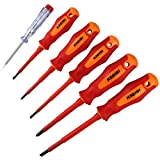 KSEIBI 153665 VDE Electricians Screwdriver Set Tool Electrical Fully Insulated High 1000 Voltage