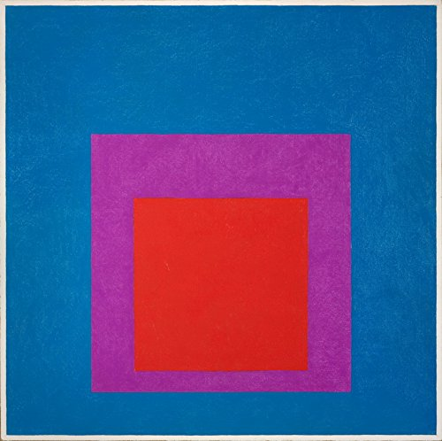 Berkin Arts Josef Albers Giclee Canvas Print Paintings Poster Reproduction (Homage to The Square Red Brass)