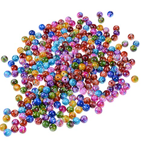 Buytra Multicolor Round Acrylic Loose Beads for Jewelry Making Supplies, Kids DIY Crafts, 10mm, 300 Pack