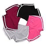 DaySeventh New Summer Pants Women Sports Shorts Gym Workout Yoga Short (XL, Black)