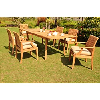 Amazon Com New 9 Pc Luxurious Grade A Teak Dining Set