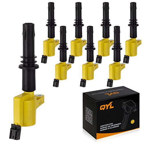 pack-of-8-yellow-ignition-coil-for-ford-f150-f250-f350-f450-f550-expedition-explorer-mustang-lincoln