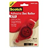 Wholesale CASE of 25 - 3M Scotch Adhesive Dot Roller Refill-Adhesive Dot Roller Refill, .31''x49'', Clear