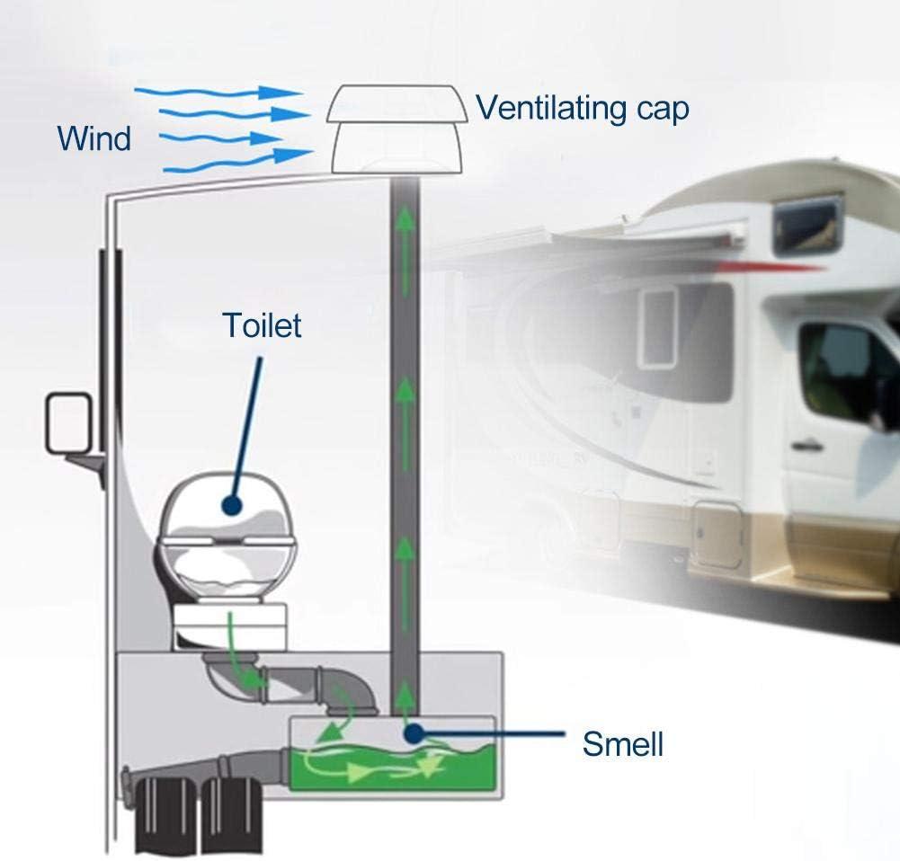 greatdaily - Cubierta para ventilación de Techo de Caravana (plástico ABS, Cierre de Cremallera, 34,5 x 71,5 x 80 mm), Color Blanco: Amazon.es: Coche y moto