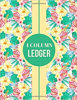 4 Column Ledger: Accounting Register Log Book, Accounts Tracker