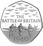 2015 75th Anniversary of the Battle of Britain UK 50p Uncirculated Out of Royal Mint Sealed Bag