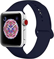 BMBEAR Sport Bands Compatible Apple Watch Band 38mm 40mm 42mm 44mm Soft Silicone Replacement iWatch Strap for Apple...
