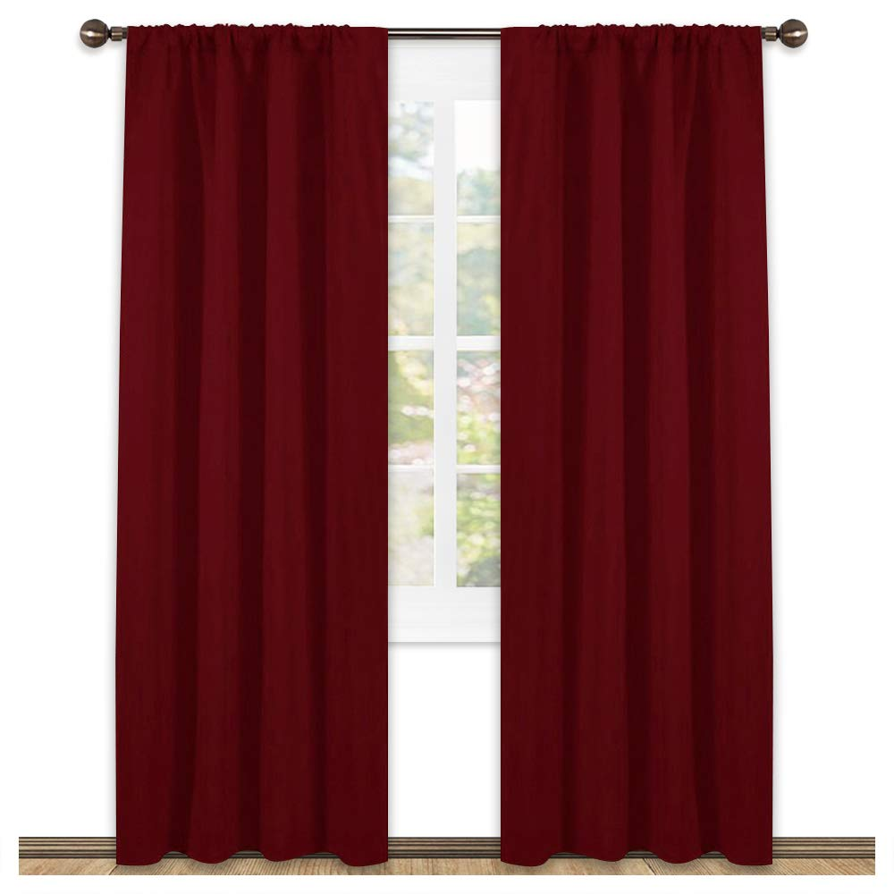 NICETOWN Home Decoration Blackout Curtains - Triple Weave Thermal Insulated Solid Drapes for Bedroom(Set of 2, 42 x 84 Inch, Royal Purple) NICETOWN_Blackout_Petit