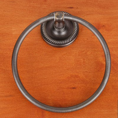 Rope Base Towel Ring - RB Series Wall Mounted Rope Base Towel Ring Finish: Distressed Nickel
