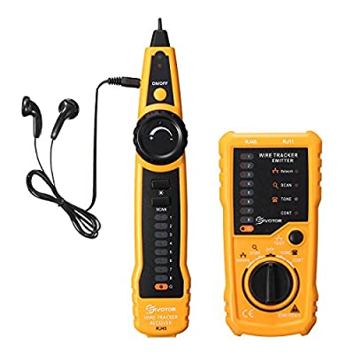 Cable Tracer, EIVOTOR Professional RJ45 RJ11 Wire Tracker Line Finder Cable Tester for Network Cable Collation, Telephone Line Test, Continuity Checking