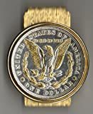 2-Toned Gold & Silver U.S. Morgan silver dollar eagle (Hinged) Money clips , J&J Coin Jewelry