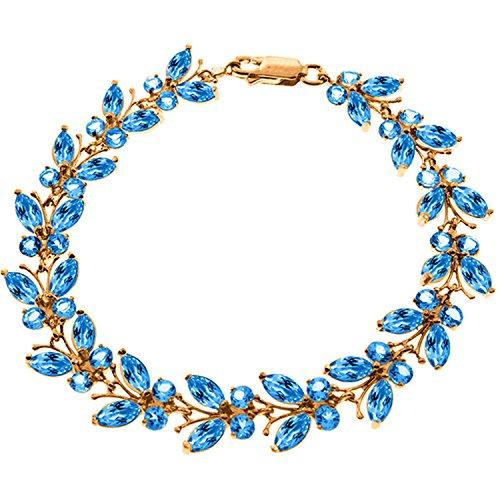 14K Solid Rose Gold Butterfly Bracelet with Blue Topaz Blue Topaz Emerald Bracelet