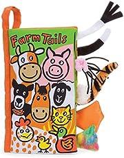 Jellycat Soft Cloth Books, Farm Tails