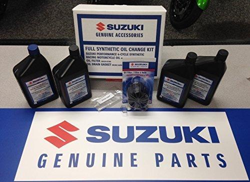 Suzuki OEM Oil Change Kit 4 Quarts Full Synthetic GSXR M109 Bandit Vstrom