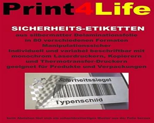 120 Stk. Selbstklebende silbrig matte Sicherheits - Etiketten (Schachbrettmuster) aus Delaminationsfolie - Adressetiketten Markierungspunkte Format 97.0x67.6mm B002P0IG5O | Günstige Preise