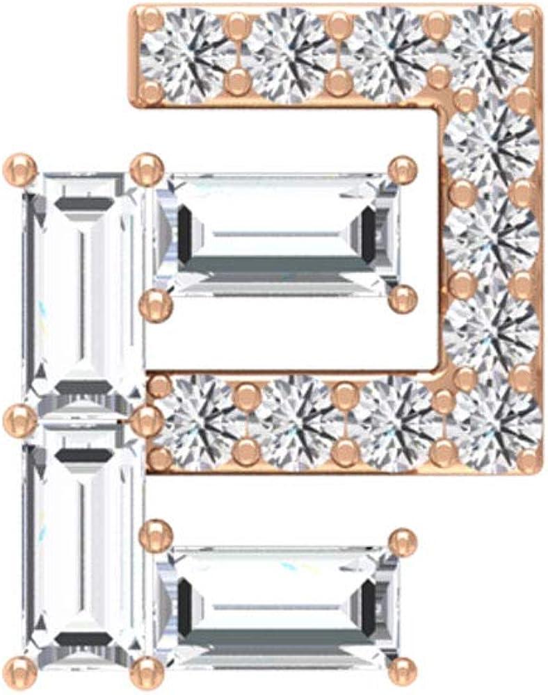 Aretes de diamante con forma de baguette certificado IGI de 0,4 ct, declaración de boda en forma de C, IJ-SI, claridad de color, diamante, tornillo hacia atrás