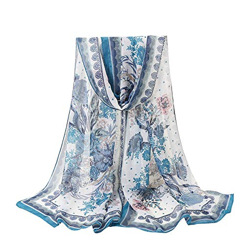 Lightweight Fall Scarfs for Women Hot Sale,deatu Clearance Ladies Flowers Printing Long Soft Wrap Scarf Shawl (I)