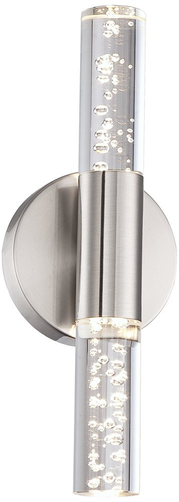 Natalya Bubble Acrylic Tube 13'' High LED Wall Sconce