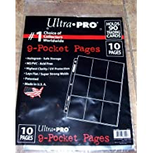 Ultra-Pro 9-Pocket Trading Card Pages - (10 Pages) (Holds 90 Cards)