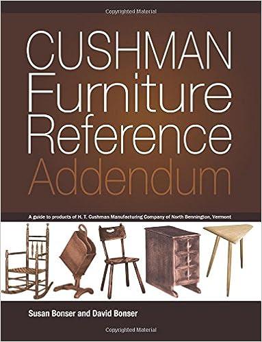 Etonnant Cushman Furniture Reference, Addendum: Furniture By The H. T. Cushman  Manufacturing Company Of North Bennington, Vermont: Susan Bonser, David  Bonser: ...