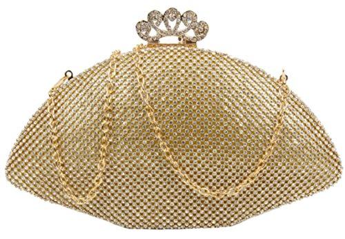 Material Mano Para Mujer Sintético Handbags Cartera Dorado De Girly qYItSn