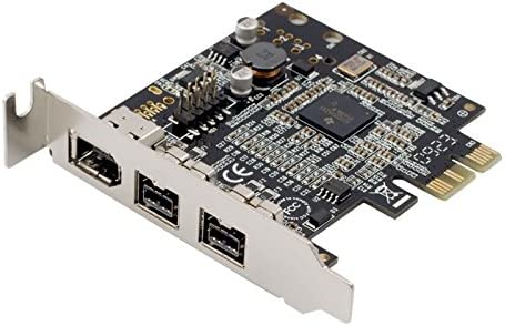 SYBA Low Profile PCI-Express Firewire Card with Two 1394b Ports and One 1394a Port (2B1A), TI Chipset, Extra Regular Bracket SD-PEX30009