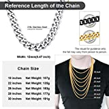 Women Men's Stainless Steel Curb Chain Engraved