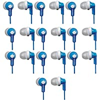 Panasonic ErgoFitIn-Ear Earbud Headphones RP-HJE120 (10-Pack, Blue)