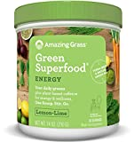 Best Greens Powders - Amazing Grass Energy Green Superfood Lemon Lime Flavor Review