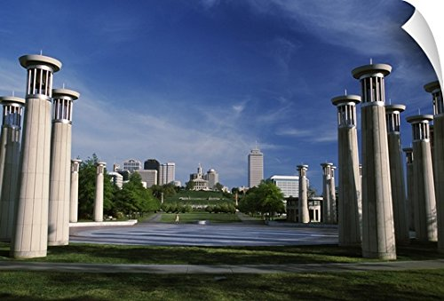 Canvas On Demand Wall Peel Wall Art Print entitled Colonnade in a park, 95 Bell Carillons, Bicentennial Mall State Park, Nashville, Davidson County, Tennessee, - Nashville Mall Tennessee