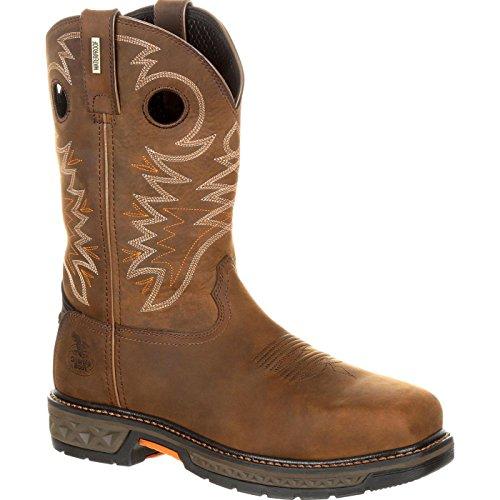 Georgia Men's Boot Carbo-Tec Lt Waterproof Western Work Alloy Toe Brown 10.5 ()
