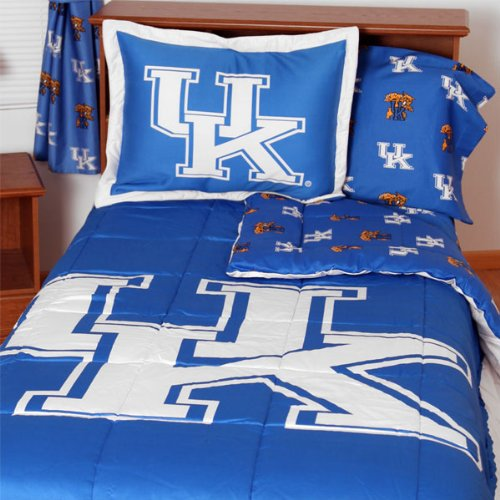 (NCAA Kentucky Wildcats Collegiate 7pc Blue King Bedding Set)