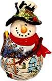 Blue Sky Clayworks Night Before Christmas Frosty Snowman Cookie Jar