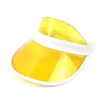 HUPLUE - Gorro de Visera de Golf Transparente con Protección UV ... 3bd79147c31