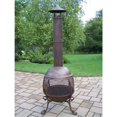Oakland Living Autumn Chimenea, Antique Bronze (Chimenea Bronze)