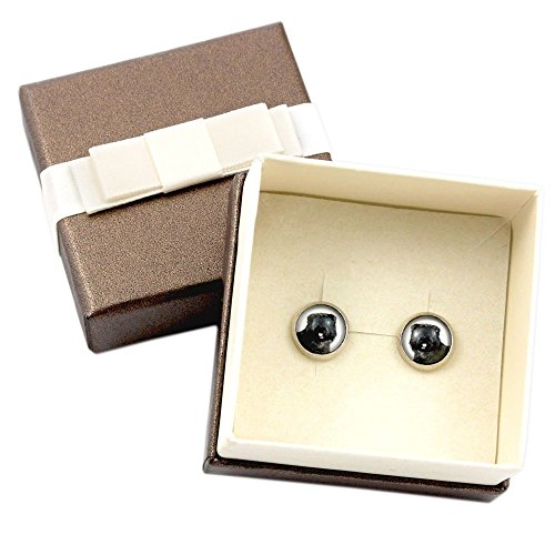 Bouvier, Pet in your ear, earrings with box, photo jewelry, Handmade