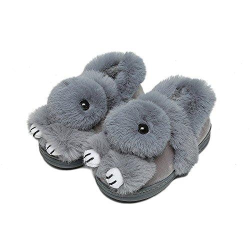 Herbst und Winter Kinder Süße Baumwolle Hausschuhe Jungen und Mädchen Baby Rutschfeste Warme Paket mit Indoor Hause Eltern-Kind-Schuhe,D,36-37