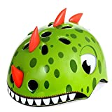 Mingzheng Kid's Multi-Sport Bike Helmet for 3-12 Years Old Boys and Girls Youth Adjustable Safety Helmet for Roller Skating Skateboard BMX Scooter Cycling by Dinosaur Small