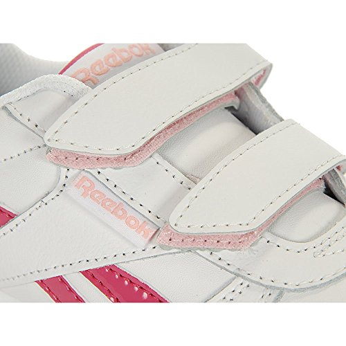 Reebok - Royal Cljogger 2V - Color: Blanco-Rosa - Size: 28.0