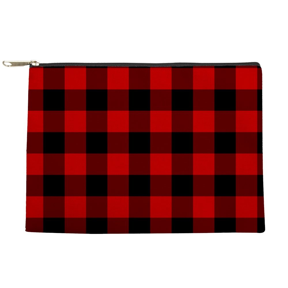 well-wreapped CafePress - Red Plaid - Makeup Pouch - webcam ... 575791bd77